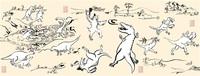 鳥獣 モチーフ 戯画 恐竜 SNSでグッズ人気 越前市の墨絵アーティスト 脱力系タッチ魅力