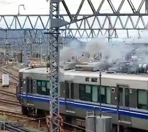 駅構内の設備で5日間で2度の火事