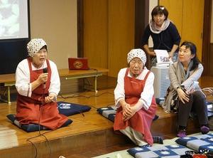 伝承料理の作り方などについて語る「一乗ふるさと料理クラブ」のメンバー。右端は向笠さん=10日、福井市の一乗ふるさと交流館