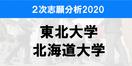 東北大学、北海道大学の前期試験志願分析2020