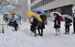 数年に一度の強い寒気、大雪警戒