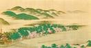 原在中「嵐山図」江戸後期 細密描写 春鮮やかに…