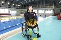 水泳でパリ・パラ目指す中学生 近江優菜さん 障スポへの関心高めたい 聖火駆ける思い