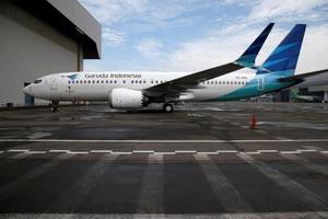 ガルーダ・インドネシア航空のボーイング737MAX8=13日、ジャカルタ空港(ロイター=共同)