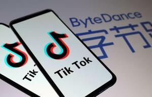 「TikTok」(左)と「北京字節跳動科技(バイトダンス)」のロゴ(ロイター=共同)