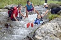 登山技術を防災に、子どもたち挑戦
