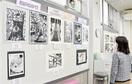 子どもの版画 個性豊か 県審査、大野で巡回展