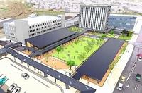敦賀駅西のホテル棟起工、2022年9月開業 北陸新幹線開業に向け拠点整備