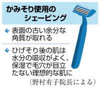 保湿で理想的な肌に かみそり使用後のケア 健康まっぷ