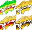 地震地図 色覚障害に配慮 政府再作成へ 危険度…