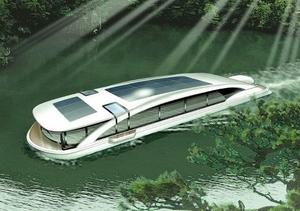 三方五湖の観光目玉に電池推進船