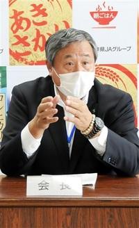 組合員訪問難しく 困惑 田波会長「新型コロナ影響」 JA福井県発足2カ月