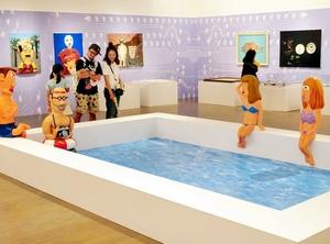 「アートたけし展」などさまざまな展示会が開かれる金沢市の金沢21世紀美術館