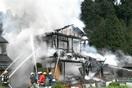 鯖江で住宅全焼、けが人なし