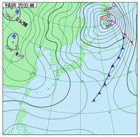 2月12日午前6時の天気図(気象庁HPより)
