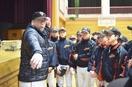 駒田徳広さんが越前市で野球教室