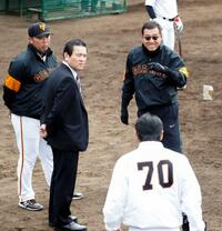 巨人2軍が川崎で練習と紅白戦