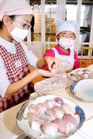 若狭の魚をネタに御食国寿司体験