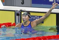 競泳で楽しみな存在の相馬 ユニバの女子50メートルバタで銀 スポーツランド