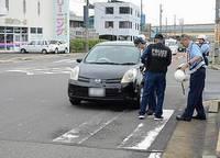 【続報】集団登校に車、高齢女性が運転か