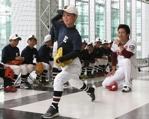 元楽天牧田明久さんが野球少年指導