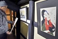 版画支える越前和紙 浮世絵やアニメ30点展示 越前市