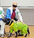 盲導犬一緒で平常心、金メダル獲得