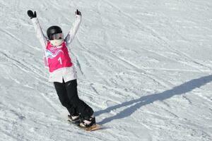 スノーボードのビッグエア女子で優勝した浅沼妃莉=レザン(ゲッティ=共同)