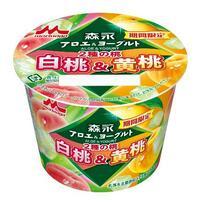 2種類の桃のヨーグルト