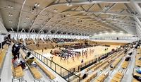屋内広々、福井県営体育館が完成