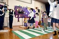 JK課手作り信号機で交通安全教室