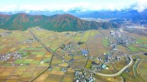 中部縦貫道=2017年11月、福井県大野市上空から勝山方面へ日本空撮・小型無人機ドローンで撮影