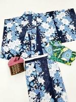セパレート浴衣とワンタッチ帯で、気軽に和装が楽しめる3点セット