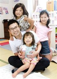 妻の職場復帰後2カ月を2回 家事、育児大変さ痛感 3児の父 波多野さん(永平寺町)