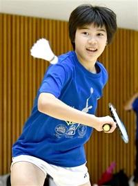 松田さん海外遠征へ バドU13代表、マレーシアに フットワーク向上図る 金井学園Jr.
