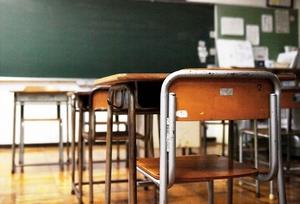 福井県内の小学校の教室