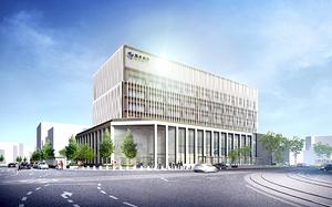 2020年12月のオープンを目指す福井銀行新本店のイメージ図