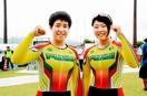 女子チームスプリントで福井県3位