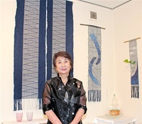 オーナー自ら手織り ギャラリー風遊舎 30年ぶり披露