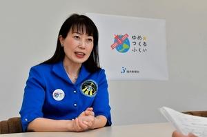 スペースキッズのサポーターを務める宇宙飛行士の山崎直子さん