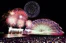 三国花火、夏の夜空に1万発大輪