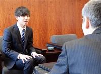 大野PR学生林さん 東京での活動を報告 市役所