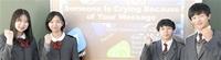 英語プレゼン能力全国審査 福井商高チーム銅賞 2年生4人 ネットいじめテーマ