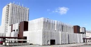 12月3日のオープンに向け改装工事が進む「MEGAドン・キホーテUNY福井店」(仮称)=福井県福井市飯塚町