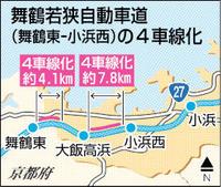 舞若道一部4車線化を決定 西日本高速、国交省許可受け