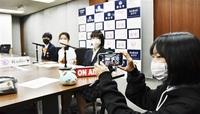 鯖江の女子高生、動画作成中 衆院選期日前の流れ紹介 投票呼び掛け 市JK課、来週にも配信