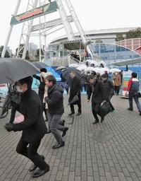東京で初の弾道ミサイル避難訓練