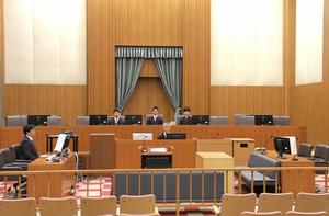 正木組銃撃事件で野坂被告の判決公判が開かれた1号法廷=12日、福井地裁(代表撮影)