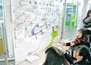JR福井駅に新幹線開業向け掲示板