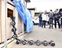 災害時 ヘビ型ロボが力 鯖江 電気通信大が走破実験